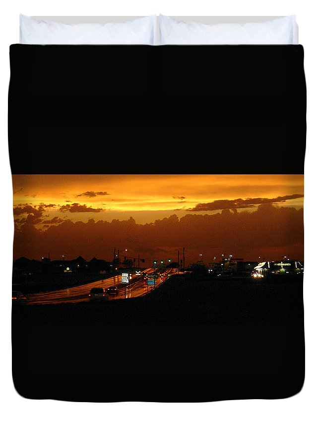 Landscape Duvet Cover featuring the photograph Missouri 291 by Steve Karol