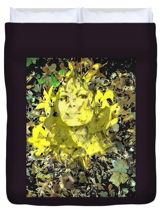 Mistress Of Autumn Duvet Cover featuring the digital art Mistress of Autumn by Seth Weaver