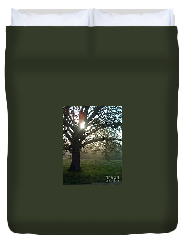 Mist Duvet Cover featuring the photograph Misty Morning by Nadine Rippelmeyer
