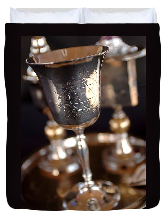 Mitzvah Duvet Cover featuring the photograph Mitzvah Cup by Jill Reger