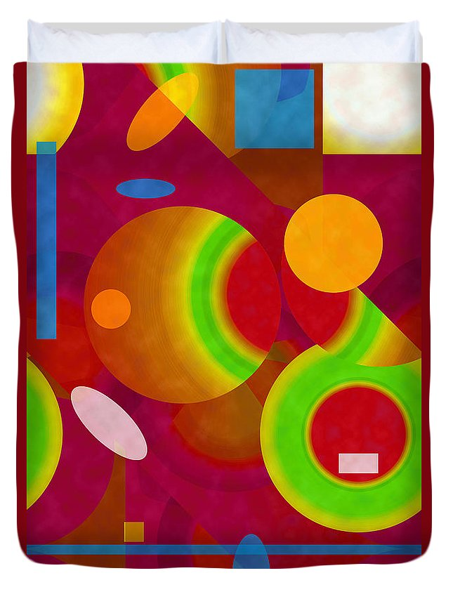 ruth Palmer Duvet Cover featuring the digital art Mix And Match by Ruth Palmer