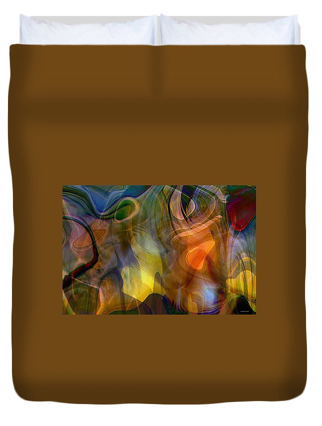 Mixed Emotions Duvet Cover featuring the digital art Mixed Emotions by Linda Sannuti