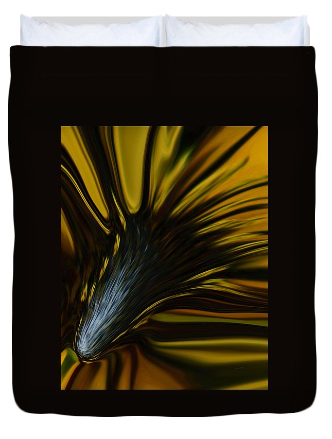 Abstract Duvet Cover featuring the photograph Mixed Sunflower by Ernie Echols