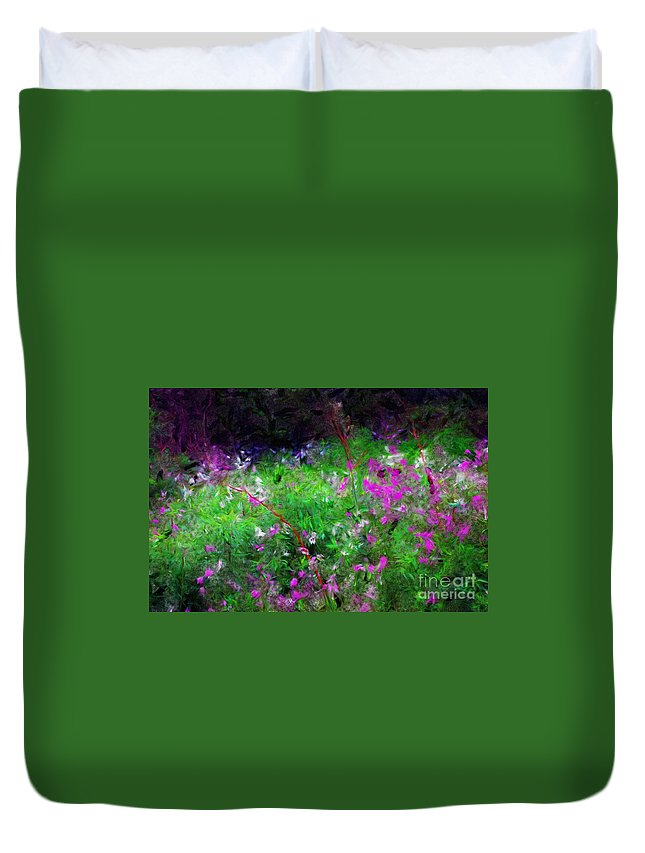 Digital Photograph Duvet Cover featuring the photograph Mixed Up by David Lane