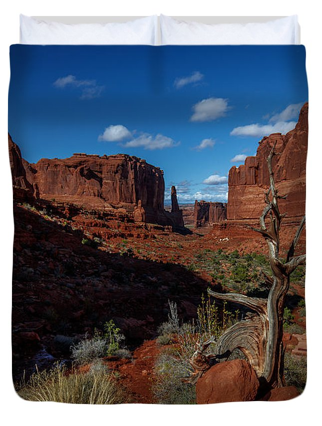 South-west Duvet Cover featuring the photograph Moab Shadows by Tim Bryan