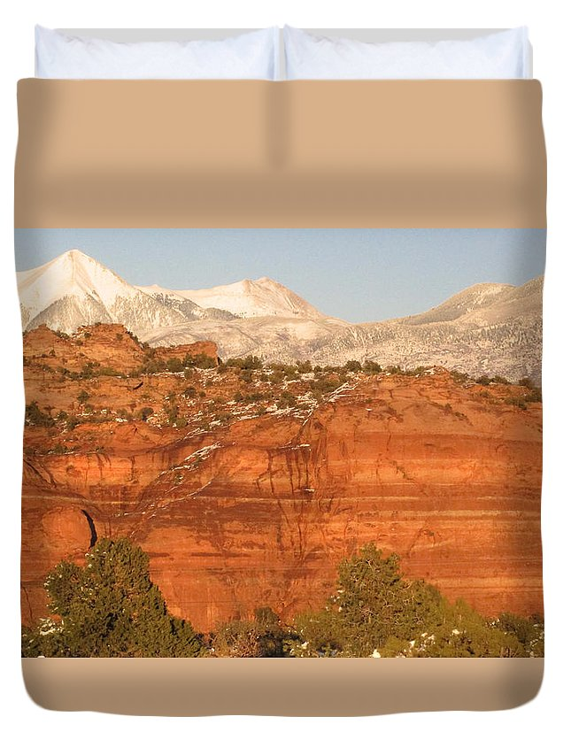 Moab Utah Duvet Cover featuring the photograph Moab Utah by Judithann O'Toole