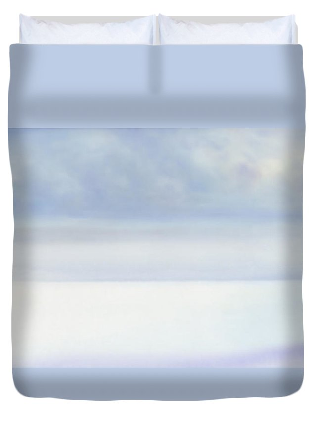 Moana Pearl Duvet Cover featuring the painting Moana Pearl 2 by Kevin Smith