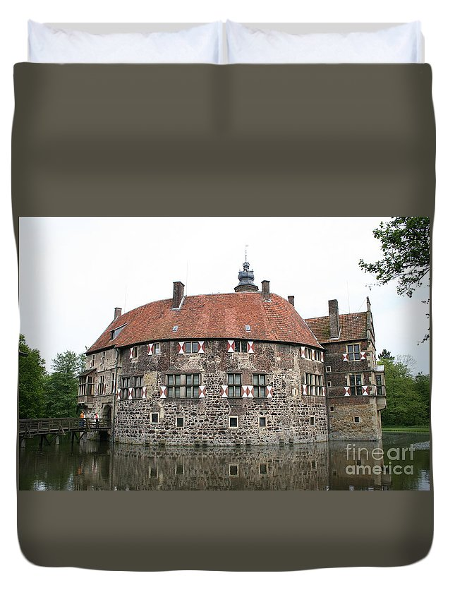 Castle Duvet Cover featuring the photograph Moated Castle Vischering by Christiane Schulze Art And Photography