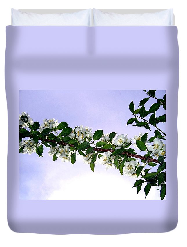 Mock Orange Duvet Cover featuring the photograph Mock Orange by Will Borden
