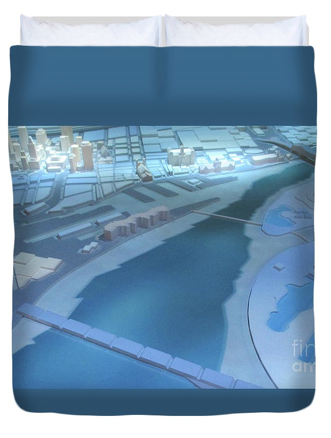 Model City Duvet Cover featuring the photograph Model City 1 by Randall Weidner