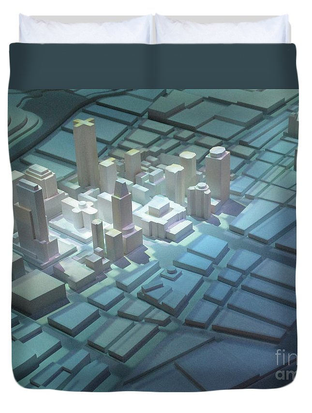 Model City Duvet Cover featuring the photograph Model City 2 by Randall Weidner