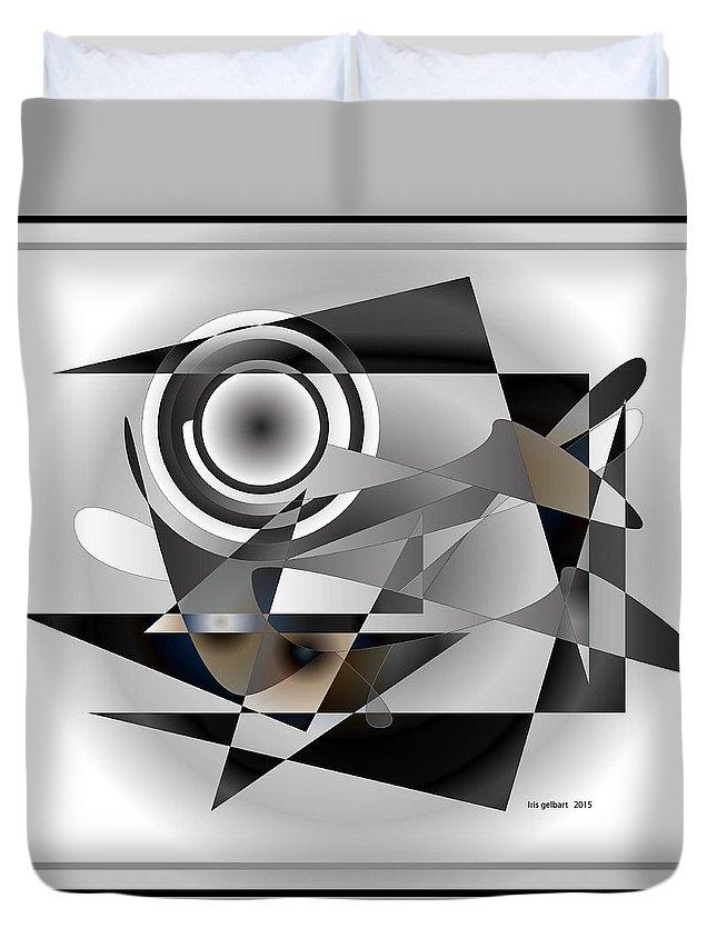 Abstract Duvet Cover featuring the digital art Modern 1000 by Iris Gelbart