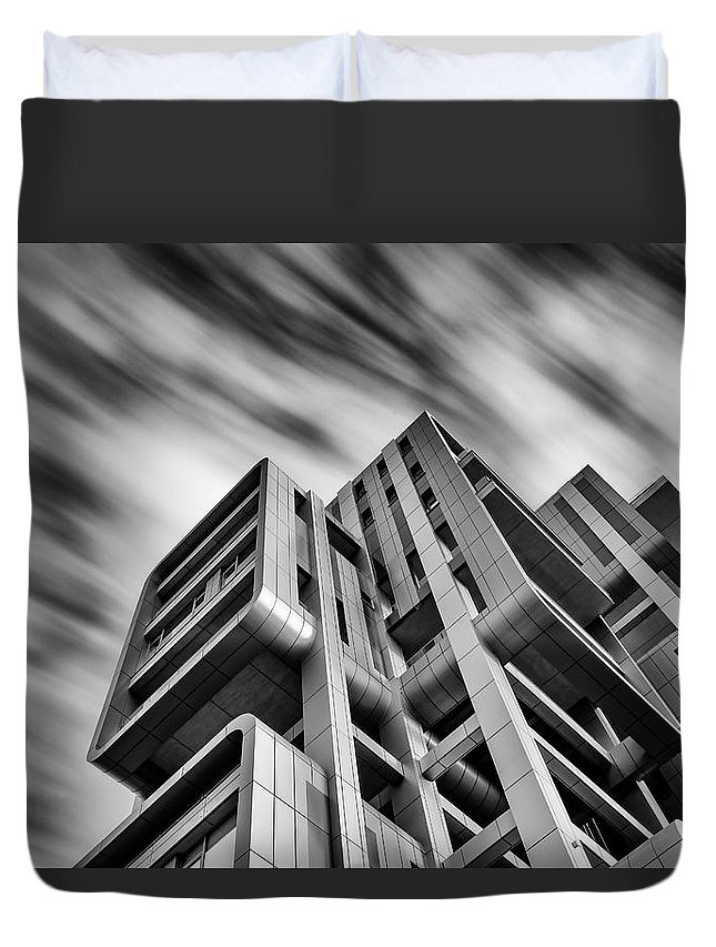 Architecture Duvet Cover featuring the photograph Modern Architecture by Michalakis Ppalis