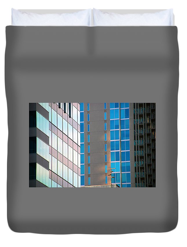 Architecture Photography Duvet Cover featuring the photograph Modern Architecture Photography by Susanne Van Hulst