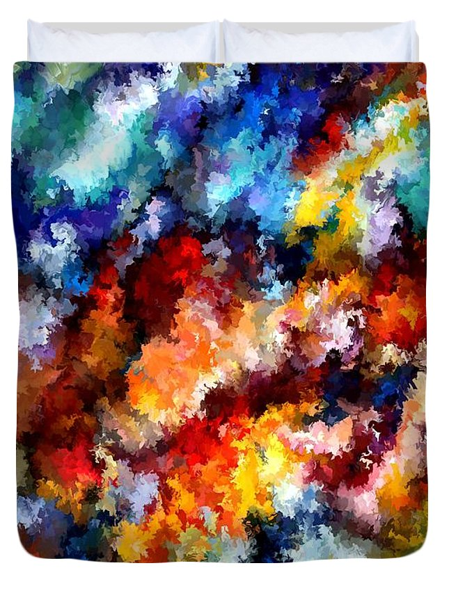 Contemporary Duvet Cover featuring the painting Modern Composition 06 by Rafi Talby