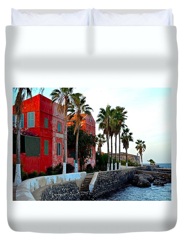 Hotel Duvet Cover featuring the photograph Modern Hotel by Clifton Facey