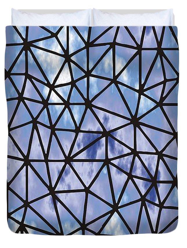 Modern Web Duvet Cover featuring the digital art Modern Web by Priscilla Wolfe