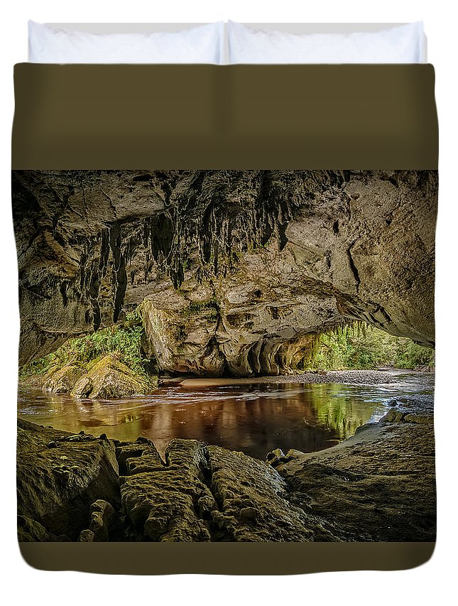 Cave/cavern Duvet Cover featuring the photograph Moira Arch Cave by Robert Green