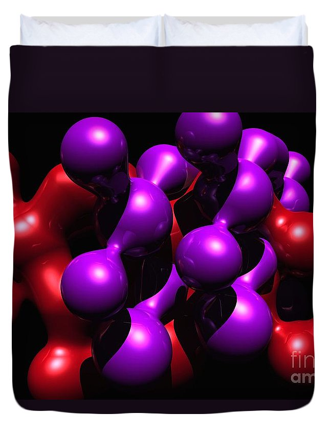 Abstract Duvet Cover featuring the digital art Molecular Abstract by David Lane