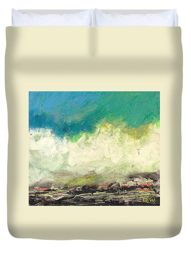 Landscape Duvet Cover featuring the painting Molecules In Motion Series by Dale Wilhite