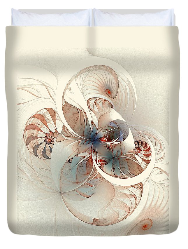 Duvet Cover featuring the digital art Mollusca by Amanda Moore