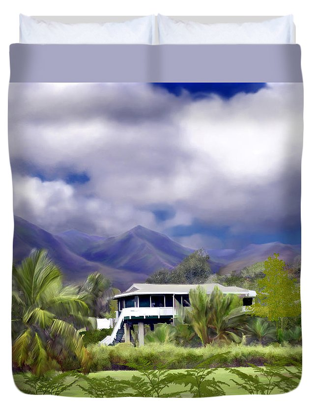 Hawaii Duvet Cover featuring the photograph Moloa A Bay Hideaway by Kurt Van Wagner