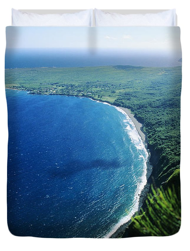 Above Duvet Cover featuring the photograph Molokai, View by Ali ONeal - Printscapes