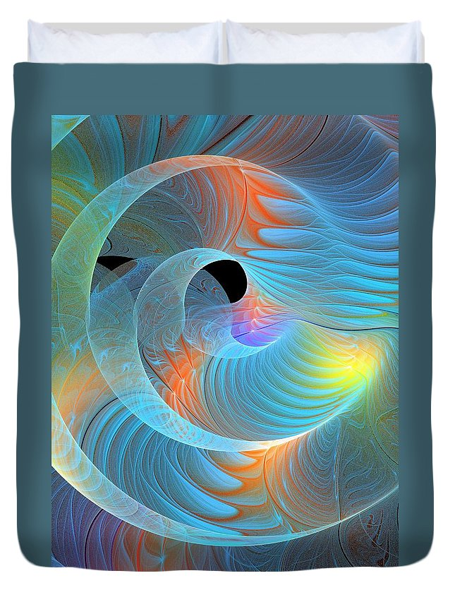 Digital Art Duvet Cover featuring the digital art Moment Of Elation by Amanda Moore