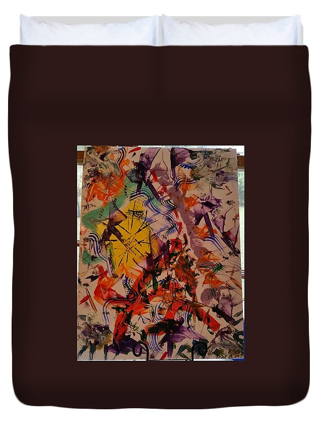Just Abstract In The Moment Duvet Cover featuring the painting Moment Of Emotions by Mel B
