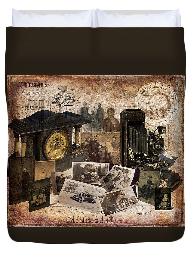 Fine Art Duvet Cover featuring the photograph Moments In Time by Sheryl Trunick