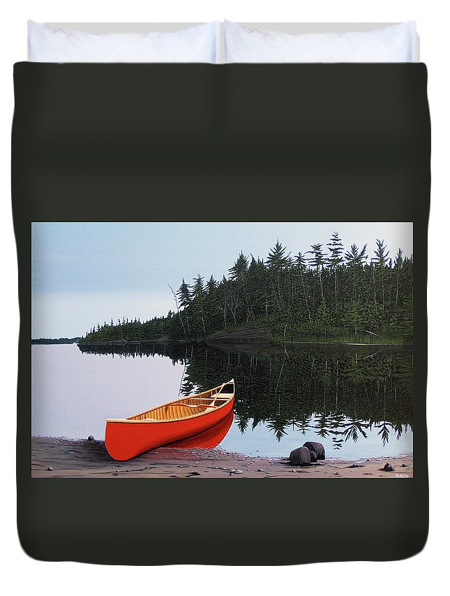Landscapes Duvet Cover featuring the painting Moments Of Peace by Kenneth M Kirsch