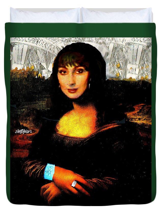 Mona Cher Duvet Cover featuring the digital art Mona Cher by Seth Weaver