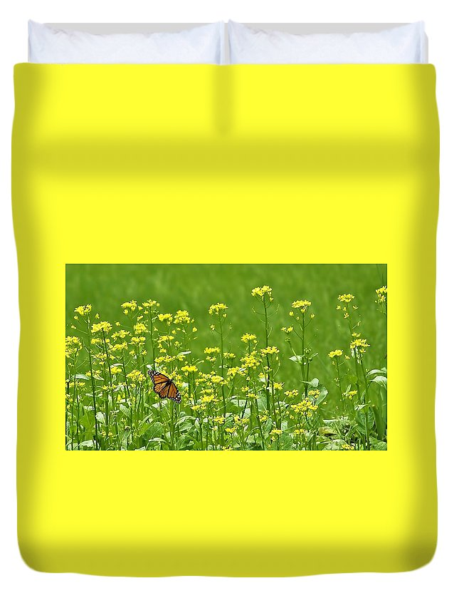 Butterfly Duvet Cover featuring the photograph Monarch by Denise Irving