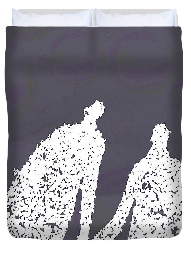 Bubbles Duvet Cover featuring the photograph Monday In The Park With Vivian by Ken Walker