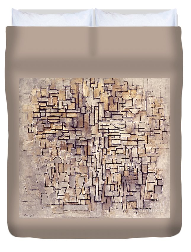 1913 Duvet Cover featuring the photograph Mondrian: Composition, 1913 by Granger