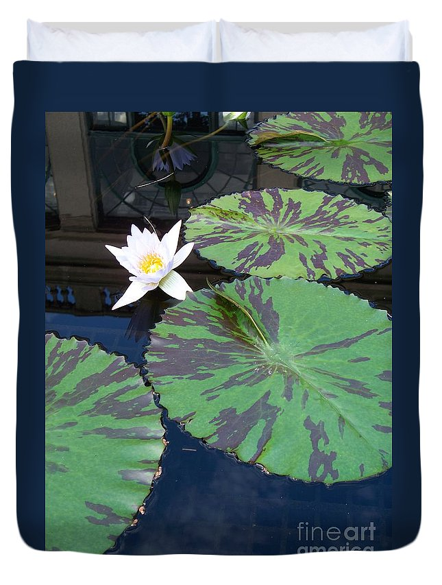 Photograph Duvet Cover featuring the photograph Monet Lilies White by Eric Schiabor
