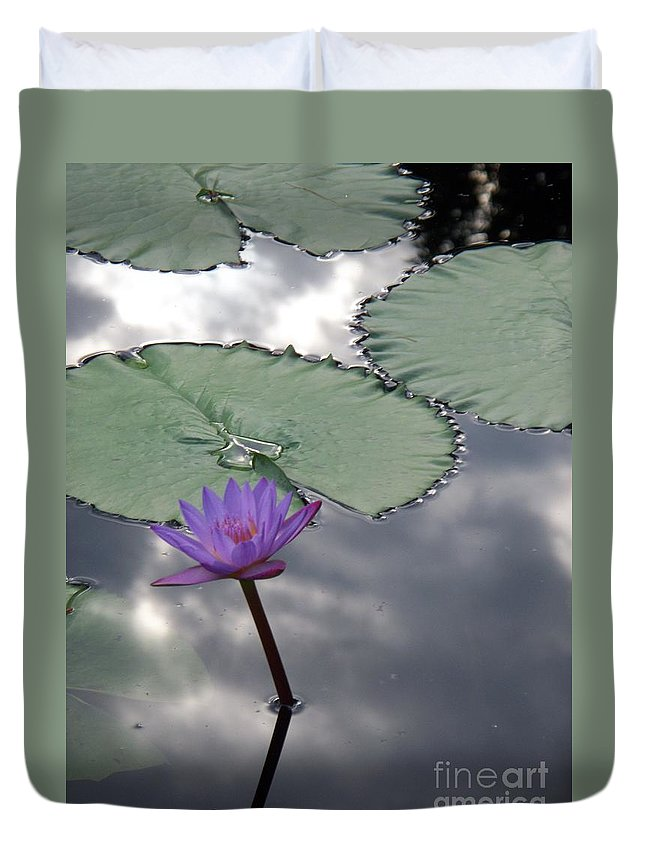 Photograph Duvet Cover featuring the photograph Monet Lily Pond Reflection by Eric Schiabor