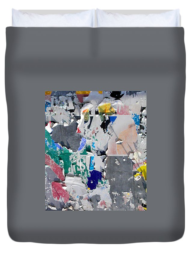 Abstract Duvet Cover featuring the photograph Money Sign by Anne Cameron Cutri