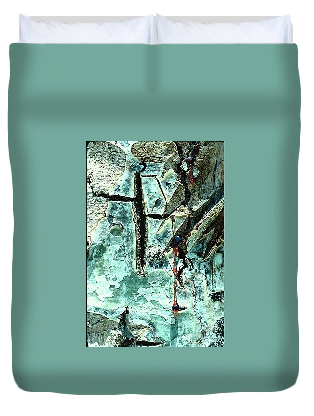Trees Duvet Cover featuring the photograph Mono Birch Bark by Norman Andrus