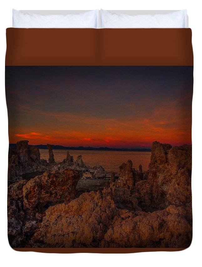 Mono Lake Duvet Cover featuring the photograph Mono Lake Sunset by Michele James