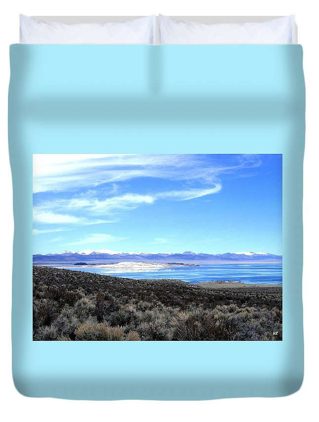 Mono Lake Duvet Cover featuring the photograph Mono Lake by Will Borden