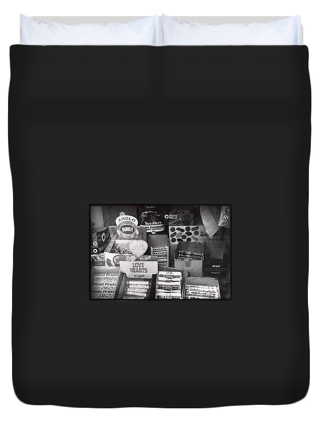 Candy Duvet Cover featuring the photograph Monochrome Candy by Charles Stuart