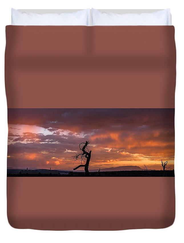 Monsoon Duvet Cover featuring the photograph Monsoon Sunset by Elena E Giorgi