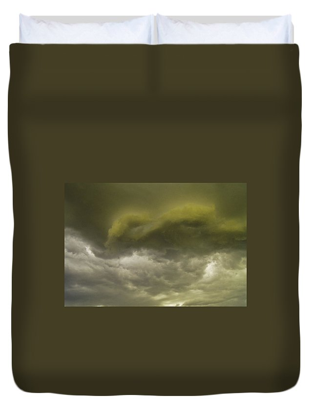 Sky Duvet Cover featuring the photograph Monsoon by Tracy Skinner
