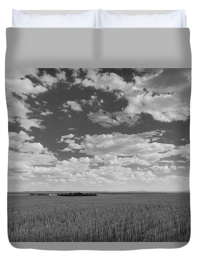 Agriculture Duvet Cover featuring the photograph Montana, Big Sky Country by Scott Slone