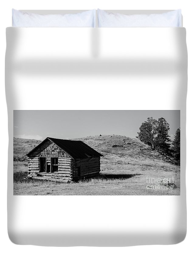 Montana Duvet Cover featuring the photograph Montana Homestead by Nick Boren