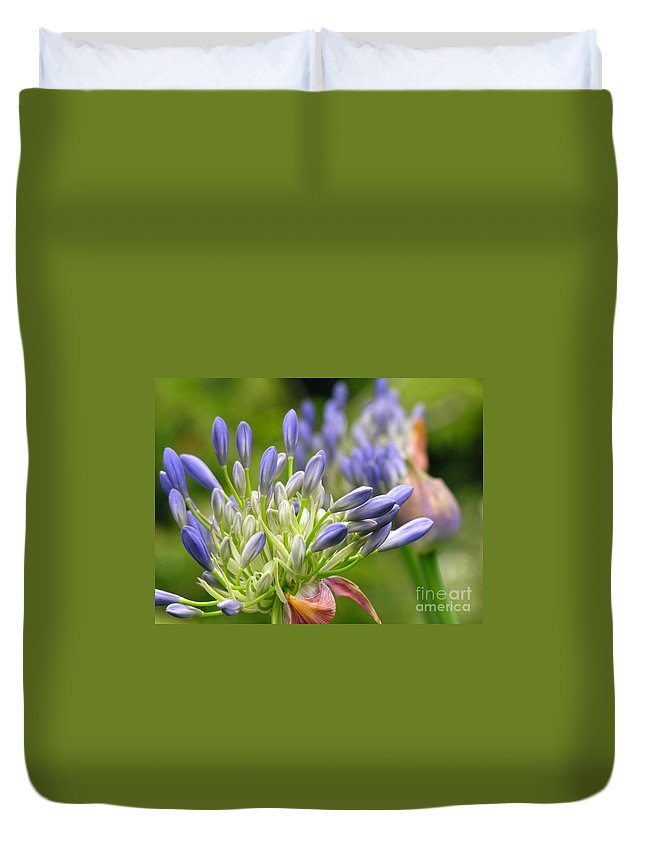 Blue Duvet Cover featuring the photograph Montana Purple And Blue by Diane Greco-Lesser