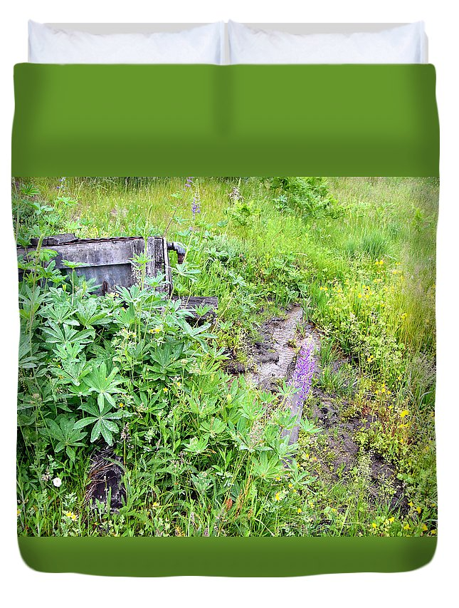 Landscape Duvet Cover featuring the photograph Montane Meadow 2 by Erika Fischer-Corners
