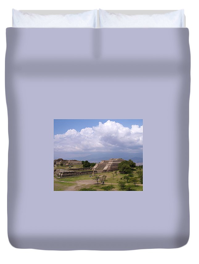 Monte Alban Duvet Cover featuring the photograph Monte Alban 2 by Michael Peychich