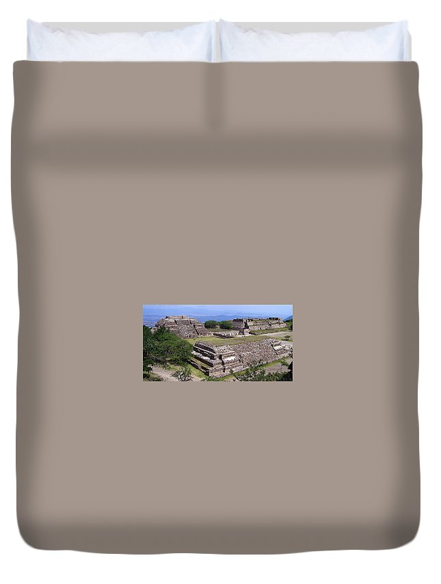 Monte Alban Duvet Cover featuring the photograph Monte Alban by Michael Peychich